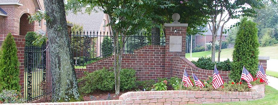 Entrance to Oakmont Subdivision